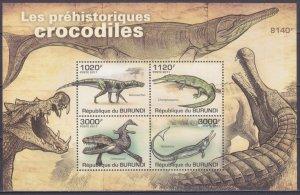 2011 Burundi 2074-77/B163 Dinosaurs 9,50 €