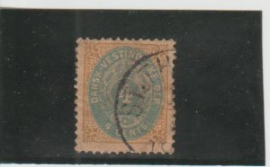 Danish West Indies  Scott#  18  Used  (1901 Surcharged)