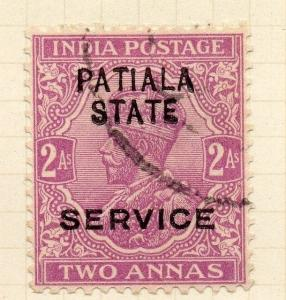 Indian States Patiala 1913 Early Issue Fine Used 2a. Optd 075629