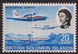 British Solomon Islands 1968 QE2 20ct Geological Survey Umm SG 175 ( R370 )