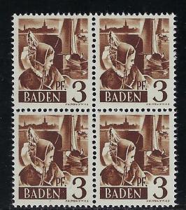 Germany - under French occupation Scott # 5N2, mint nh, b/4