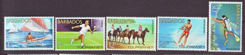 J22148 Jlstamps 1971 barbados set mnh #357-61 tourism