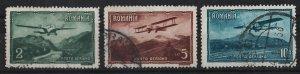 Romania 1931 Air Mail / Various Designs 2l,5l,10l (3/5) USED