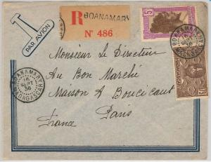 French Colonies: MADAGASCAR -  POSTAL HISTORY - REGISTERED COVER from BOANAMARY