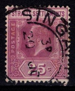 Straits Settlements 1921 George V Definitive, 25c Type II [Used]