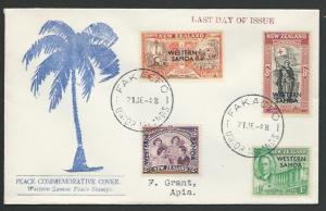 TOKELAU IS 1948 cover - last day of Samoa PO - used from FAKAOFO...........11501
