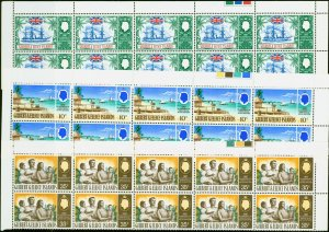 Gilbert & Ellice Is 1967 75th Anniv of Protectorate set of 3 SG132-134 Superb MN
