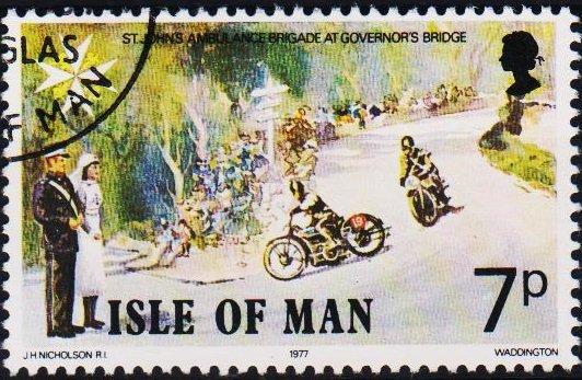 Isle of Man. 1977 7p S.G.100 Fine Used