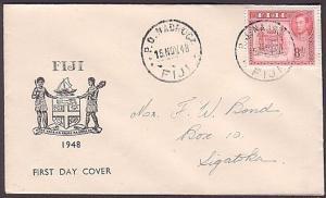FIJI 1948 8d FDC - NADROGA cds (35394)