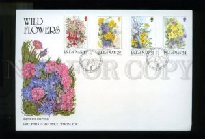 161438 ISLE OF MAN 1987 Wild Flowers FDC cover by CORKISH