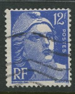 France - Scott 601 - General Definitive Issue -1948 - Used - Single 12fr Stamp