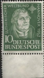 Germany 689 (mng) 10pf Martin Luther (1952)