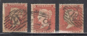 Great Brittain #8 used - 3 stamps - perf 16 -- WMK 18 -- C$90,00