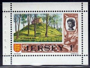 Jersey #8a Booklet Pane  La Hougue Bie, MNH.