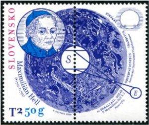 2020 Slovakia Maximillian Hell Astronomy w/label (Scott NA) MNH