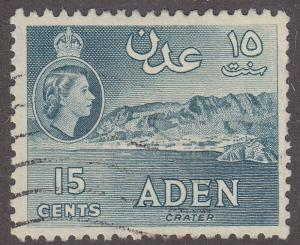 Aden 50a Hinged Used 1959 Crater