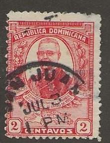 DOMINICAN REPUBLIC SC # 251   USED  CANCEL  SAN JUAN