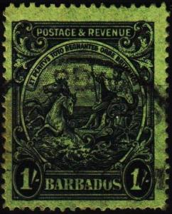 Barbados. 1925 1s  S.G.237 Fine Used