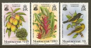 Montserrat #551-3 NH Nat'l Emblems