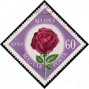 Hungary #1222 Rose; CTO (0.25)