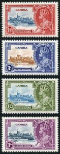 Gambia SG143/46 1935 Silver Jubilee Set of Four U/M