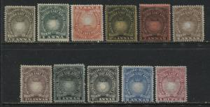 British East Africa 1890-94 values to 1 rupee mint o.g.