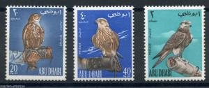 ABU DHABI BIRDS SCOTT#12/14  MINT NEVER HINGED
