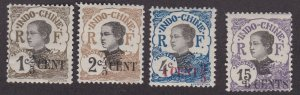 Indo-China # 65-67 & 70, Women of Indo China Surcharged, Hinged, 1/3 Cat.