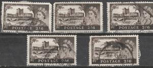 #309 Great Britain Used - 5 pcs.