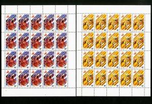 Vietnam 2134-40 40 Stamp Sets And Sheets XF OG NH