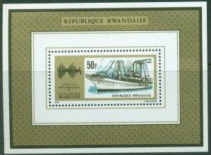1974 Rwanda 640/B39 Ships / Guglielmo Marconi