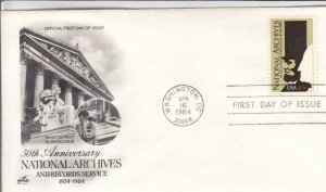 1984, 50th Anniv. National Archives, Artcraft, FDC (D14704)