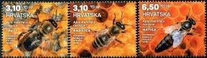 HERRICKSTAMP NEW ISSUES CROATIA Fauna 2019 - Bees