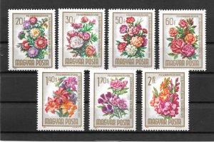 Hungary MNH 1669-75 Flower Bouquets