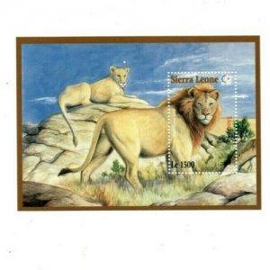 Sierra Leone MNH S/S 1819 Lions Wildlife