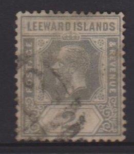 Leeward Islands Sc#107 Used Postmark St Kitts