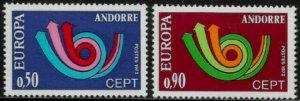 Andorra, French #219-20 MNH Set - Europa