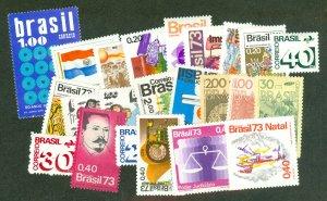 selection Brazil 1973 mint 37 different CV $54