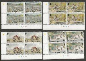 1977 Scouts Isle of Man cycling plate blocks