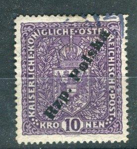 POLAND; 1918 Scarce Tarnow Local Post Rzp. Polska on Austria 10k. fine used