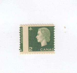 CANADA # 402 MNH MISPERF 2cts CAMEO CAT VALUE $50+