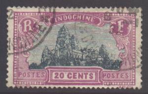 Indo-China SG153, 1927 Ruins of Angkor 20c used