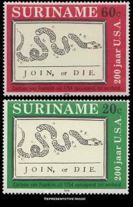 Suriname Scott 349-351 Mint never hinged.