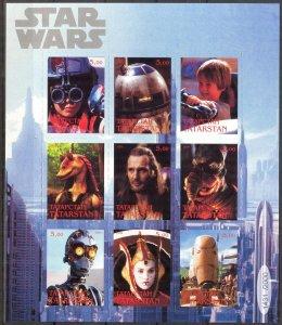 Tatarstan 1999 Cinema  Star Wars  (4) Sheet Digital Perforation MNH Cinderella