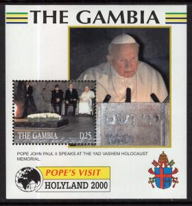 Gambia 2236 Pope Paul II Souvenir Sheet MNH VF