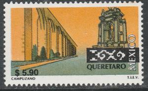 MEXICO 2132 $5.90 Tourism Queretaro, acqueduct, monume. Mint, Never Hinged F-VF.