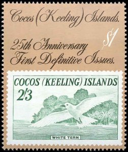Cocos Islands #177-182, Complete Set(6), 1988, Stamp on Stamp, Never Hinged