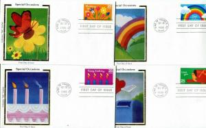 US FDC Scott #2395-98 Special Occasions. Colorano Cachet.  Free Shipping.