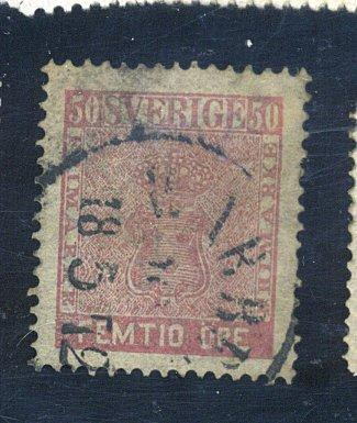 Sweden #12 Used VF THins CAt$110