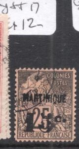 French Martinique Y&T 17 VFU (1dmw)